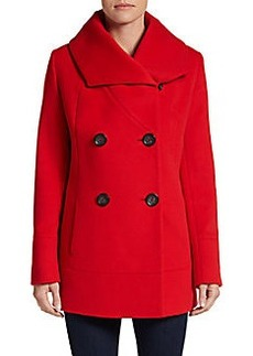 Cinzia Rocca Wool Fleece Peacoat