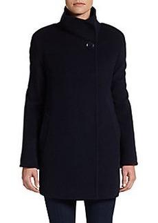 Cinzia Rocca Wool/Cashmere Blend Long Jacket