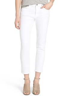 Citizens of Humanity 'Agnes' High Rise Crop Slim Straight Leg Jeans (Optic White)