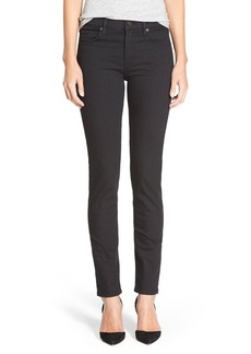 Citizens of Humanity 'Agnes' High Rise Slim Straight Leg Jeans (Black Top)
