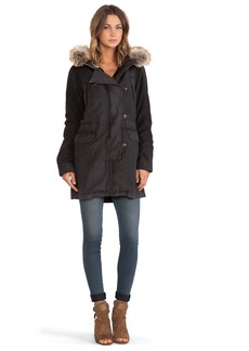 Citizens of Humanity Parka with Faux Fur Collar