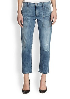 Citizens of Humanity Cropped Carpenter Straight-Leg Jeans