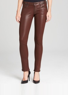 Citizens of Humanity Jeans - Racer Low Rise Skinny in Bhutan Red Leatherette