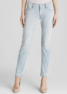 Citizens of Humanity Racer Low Rise Skinny Jeans in Washed Out