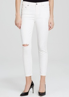 Citizens of Humanity Rocket High Rise Crop Jeans in Distressed Milos