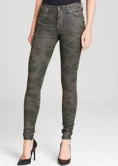 Citizens of Humanity Jeans - Rocket High Rise Skinny in Camo Leatherette Green