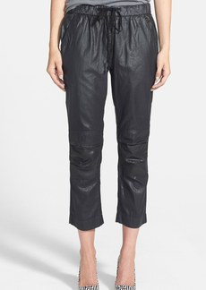 Citizens of Humanity 'Kai' Coated Cotton Crop Pants
