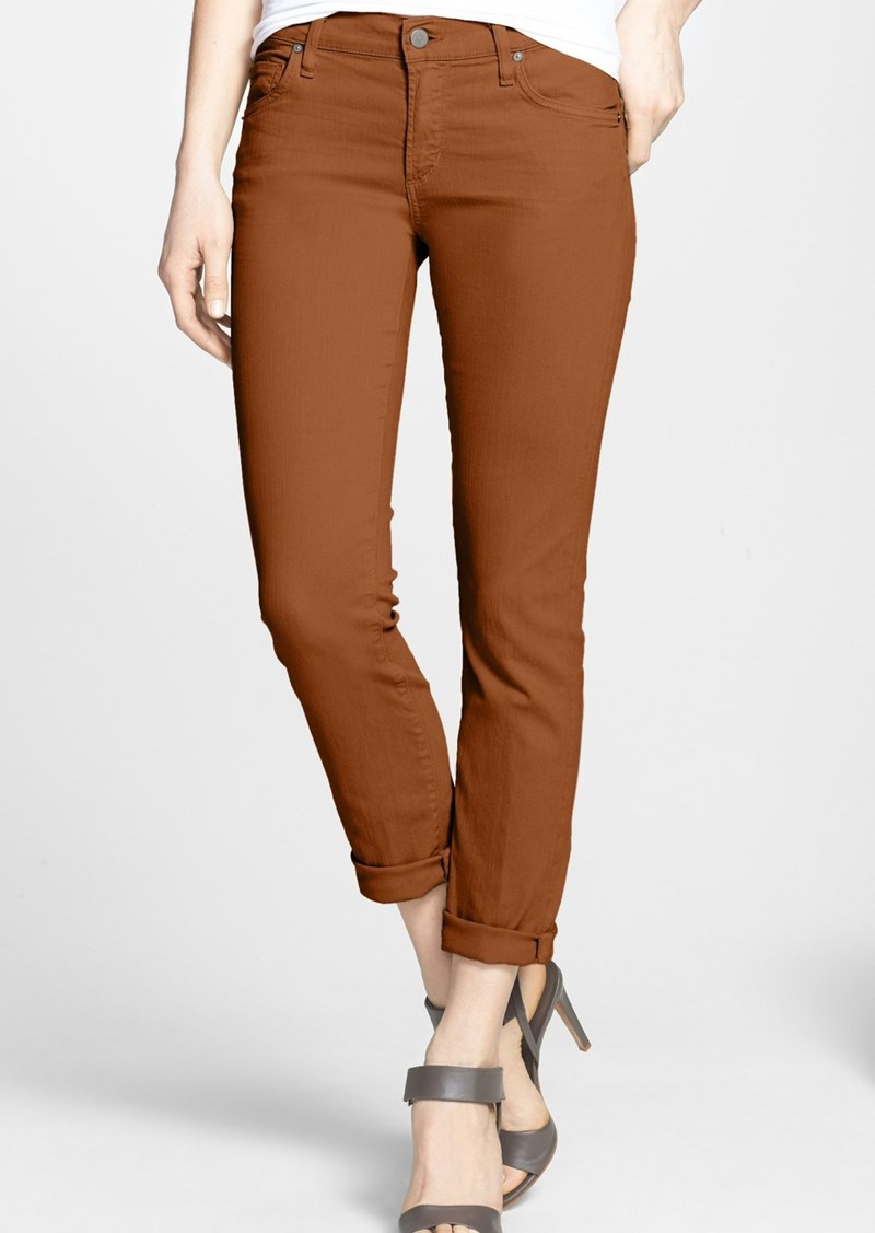 Citizens of Humanity 'Phoebe' Slim Straight Crop Jeans (Sienna)