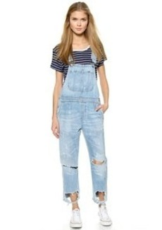 Citizens of Humanity Premium Vintage Quincey Cropped Overalls