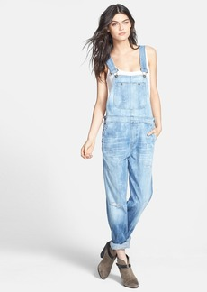 Citizens of Humanity 'Quincey' Distressed Denim Overalls (Sun Bleach)