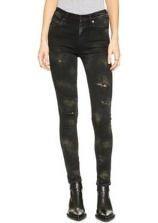 Citizens of Humanity Rocket Hand Painted Skinny Jeans