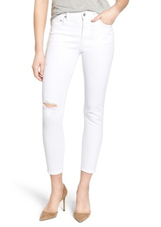 Citizens of Humanity 'Rocket' High Rise Crop Skinny Jeans (Distressed Milos)