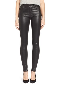 Citizens of Humanity 'Rocket' High Rise Skinny Jeans (Leatherette Black)