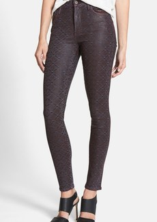Citizens of Humanity 'Rocket' Print Coated Skinny Jeans