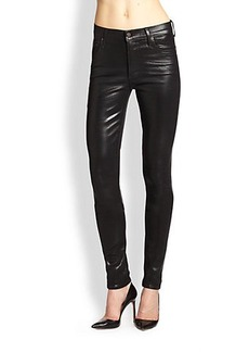 Citizens of Humanity The Rocket Coated High-Rise Skinny Jeans