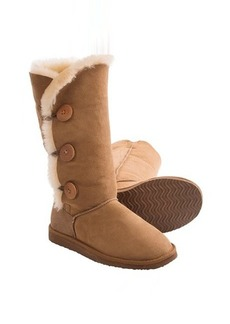 Clarks 3-Button Tall Shearling Boots (For Women)