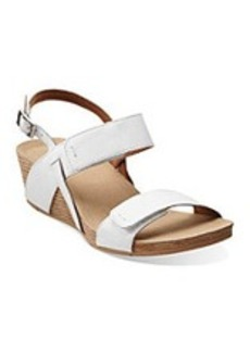 "Clarks® ""Alto Disco"" Wedge Sandals - White"