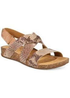 Clarks Artisan Women's Perri Dunes Footbed Sandals Women's Shoes