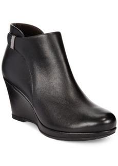 Clarks Collection Women's Camryn Fiona Wedge Booties Women's Shoes