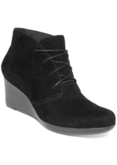 Clarks Collection Women's Crystal Peri Wedge Booties Women's Shoes