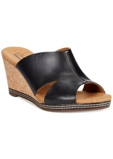 Clarks Collection Women's Helio Island Platform Wedge Sandals Women's Shoes