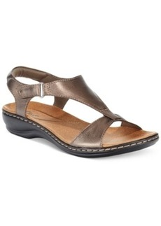 Clarks Collection Women's Leisa Foliage Flat Sandals Women's Shoes