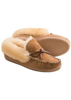 Clarks Double-Faced Shearling Moc Slippers (For Women)