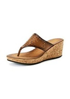 """Clarks® """"Mimmey Charm"""" Wedge Thong Sandals"""
