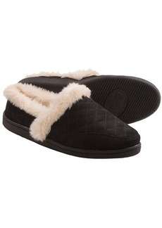 Clarks Quilted Suede Slippers (For Women)