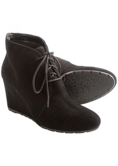 Clarks Rosepoint Dew Boots - Suede, Wedge Heel (For Women)