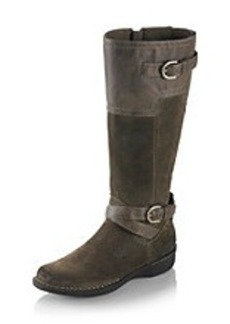 """Clarks® """"Whistle Woven"""" Belted Biker Boot"""