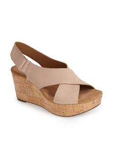 Clarks® 'Caslynn Shae' Wedge Sandal (Women)