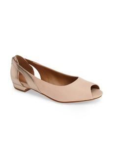 Clarks® 'Coralie May' Peep Toe Flat (Women)