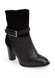 Clarks® 'Kacia Garnet' Suede & Leather Bootie (Women)