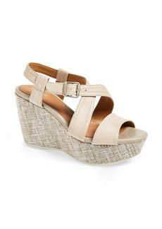 Clarks® 'Nadene Ziva' Wedge Sandal (Women)