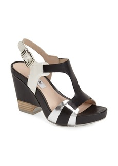 Clarks® Narrative 'Rosalie Petal' Demi-Wedge Leather Sandal (Women)