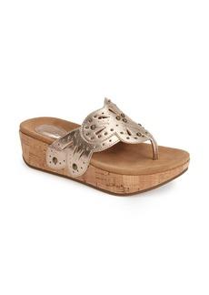 Clarks® 'Palima Palm' Platform Thong Sandal (Women)