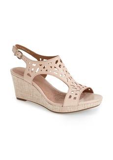 Clarks® 'Palmdale Sands' Wedge Sandal (Women)