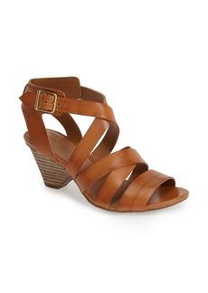 Clarks® 'Ranae Estelle' Leather Stacked Heel Sandal (Women)