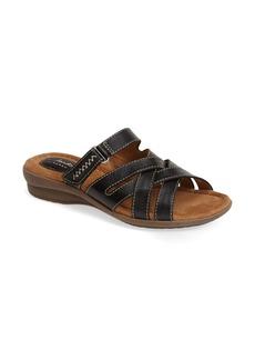 Clarks® 'Reid Newport' Leather Sandal (Women)