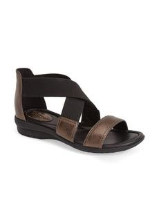 Clarks® 'Reid Solana' Metallic Leather Sandal (Women)