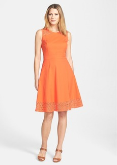 Classiques Entier® 'Abella' Poplin Sleeveless Fit & Flare Dress