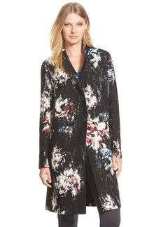Classiques Entier® Chevron Jacquard Print Wool & Silk Topper