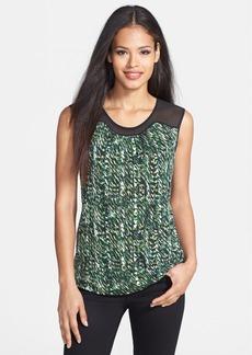 Classiques Entier® Chiffon Yoke Silk Blend Jersey Top