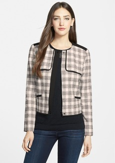 Classiques Entier® Collarless Check Tweed Jacket