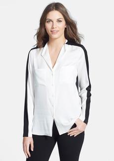 Classiques Entier® Colorblock Stretch Silk Blouse
