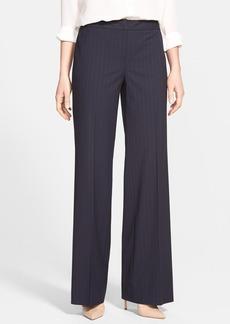 Classiques Entier® 'Como' Pinstripe Wide Leg Suit Trousers