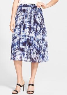 Classiques Entier® 'Darcy' Print Pleat Georgette Skirt