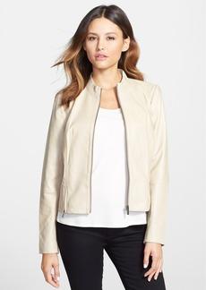 Classiques Entier® Double Zip Detail Leather Jacket