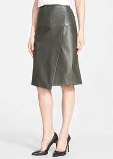 Classiques Entier® Faux Wrap Lambskin Leather Skirt